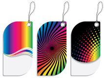 Rainbow colored label design set Royalty Free Stock Photography