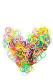 Rainbow colored Loom heart Royalty Free Stock Image