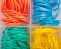 Rainbow colored Loom Stock Images