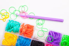 Rainbow colored Loom Royalty Free Stock Images
