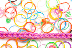 Rainbow colored Loom Royalty Free Stock Photography