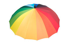 Rainbow colored opened umbrella Stock Photography