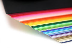 Rainbow colored paper Stock Images
