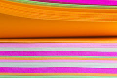 Rainbow colored paper Royalty Free Stock Images
