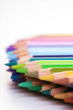 Rainbow colored pencils - close-up Royalty Free Stock Photography