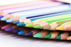 Rainbow colored pencils - close-up Stock Photography