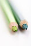 Rainbow colored pencils - close-up Stock Photo