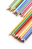 Rainbow colored pencils - close-up Royalty Free Stock Image