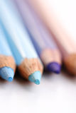 Rainbow colored pencils - close-up Royalty Free Stock Photo