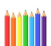 Rainbow of colored pencils Stock Image