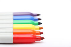 Free Rainbow Colored Permanent Markers Stock Photos - 42386643