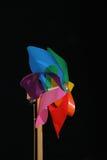 Rainbow colored pinwheel Royalty Free Stock Photos