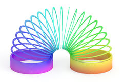 Rainbow colored plastic toy, 3D rendering. On white background Royalty Free Stock Image
