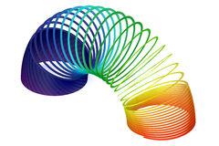 Rainbow colored plastic  toy Royalty Free Stock Images
