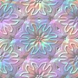 Rainbow colored relief ornaments. Seamless pattern. Rainbow colored relief floral ornaments. Seamless pattern Stock Photography