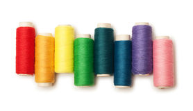 Rainbow Colored Set Of Threads Isolated Royalty Free Stock Photography