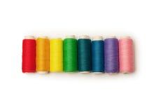 Rainbow colored set of threads Stock Image