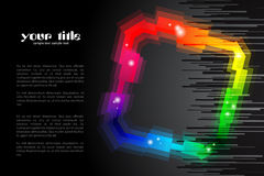 Rainbow colored shape / logo Stock Photography