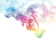 Rainbow Colored Smoke Stock Photography