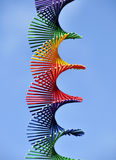 Rainbow colored spiral Stock Image