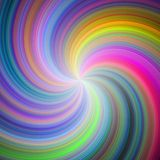 Rainbow colored spiral design. Swirl background Royalty Free Stock Image