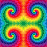 Rainbow Colored Spirals of the Rectangles Radial Expanding from the Center. Optical Illusion of  Depth and Volume. Vector Illustration. Rainbow Colored Spirals Royalty Free Stock Image