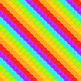 Rainbow colored squama scale seamless background pattern Royalty Free Stock Images