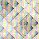 Rainbow colored halftone geometric pattern over white background vector illustration