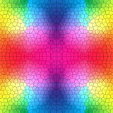 Rainbow colored stained glass pattern Royalty Free Stock Photography