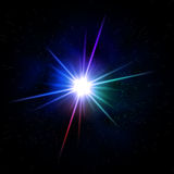Rainbow colored star Royalty Free Stock Image