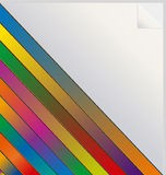 Rainbow colored sticker Royalty Free Stock Photos