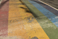 Rainbow-colored street Royalty Free Stock Photos