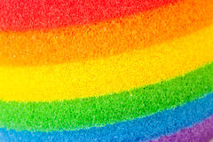 Rainbow-colored stripes on the sponge Royalty Free Stock Images