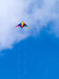 A rainbow colored stunt kite Royalty Free Stock Images