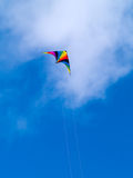 A rainbow colored stunt kite Royalty Free Stock Photography