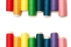 Rainbow colored threads set isolated Stock Photography