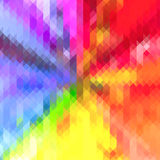 Rainbow Colored Triangle Geometric Star pattern Background Royalty Free Stock Image