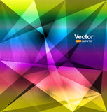 Rainbow colored triangles Royalty Free Stock Photography