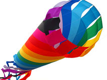 Rainbow Colored Tube Kite Flying Royalty Free Stock Images