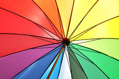 Rainbow colored umbrella Royalty Free Stock Photography