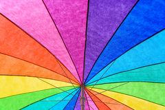 Rainbow Colored Umbrella Background Royalty Free Stock Photos