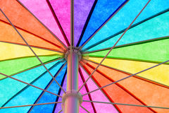Rainbow Colored Umbrella Background Royalty Free Stock Image
