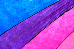 Rainbow Colored Umbrella Background Stock Images