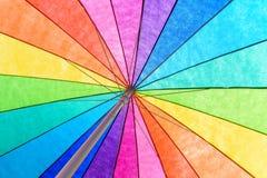 Rainbow Colored Umbrella Background Stock Photos