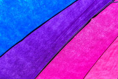 Rainbow Colored Umbrella Background Stock Photography