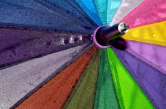 Rainbow Colored Umbrella Royalty Free Stock Photos