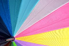 Rainbow Colored Umbrella Royalty Free Stock Images