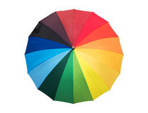 Rainbow colored umbrella opened Royalty Free Stock Photos