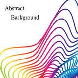 Rainbow Colored Wavy Pattern. Template for Visiting Cards, Labels, Fliers, Banners, Badges, Posters, Stickers Stock Image