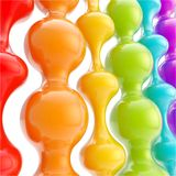 Rainbow colored wavy shapes as abstract background Stock Image